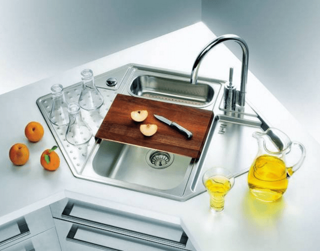 corner kitchen sinks 25 cool corner kitchen sink designs [best ideas] ZKVTBIT